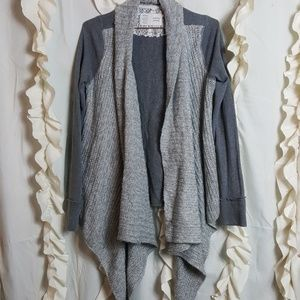 Saturday Sunday drape front cardigan sweater